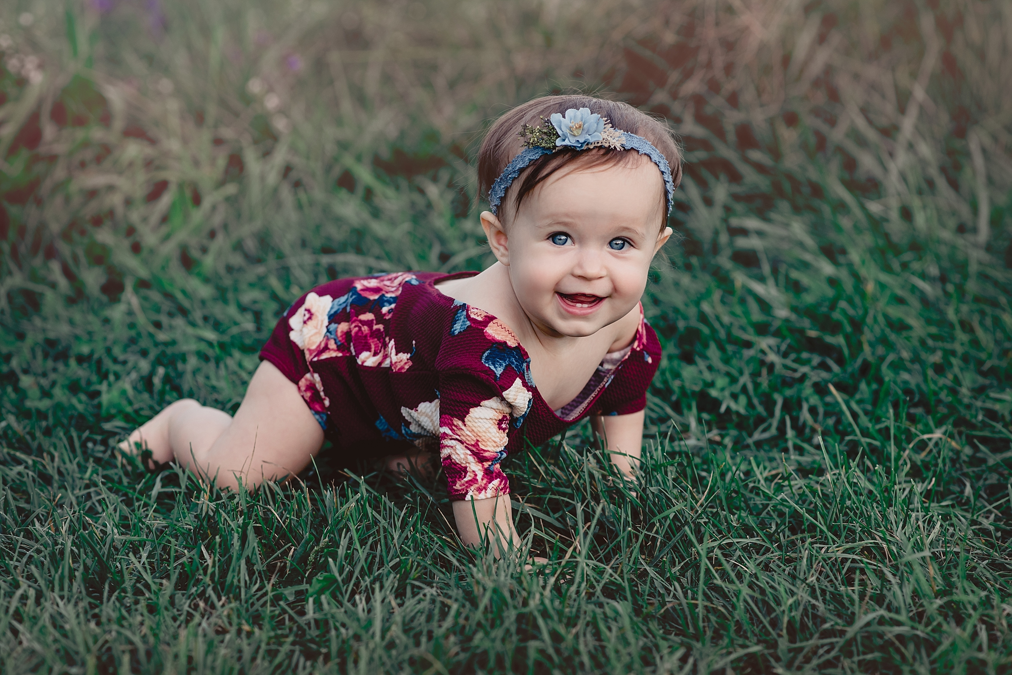 Centerville Ohio Milestone Photography – Baby Madelyn {big one}