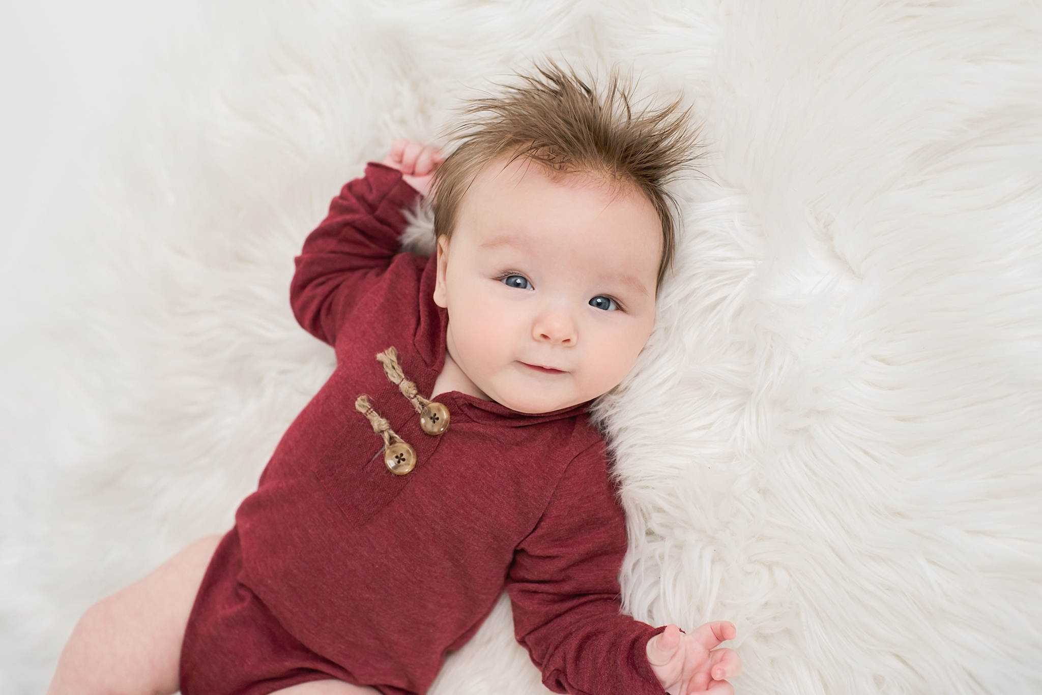 Centerville Ohio Baby Photography – Baby Archer {tummy time}